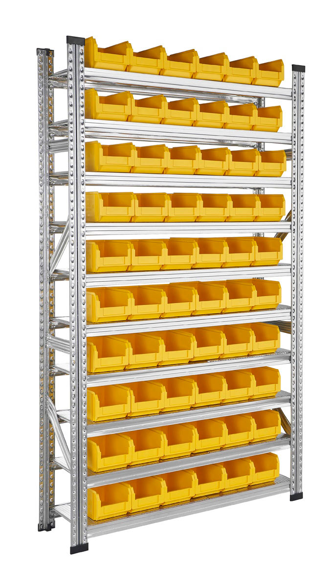 Rayonnage bacs à becs plastiques 3.8 litres