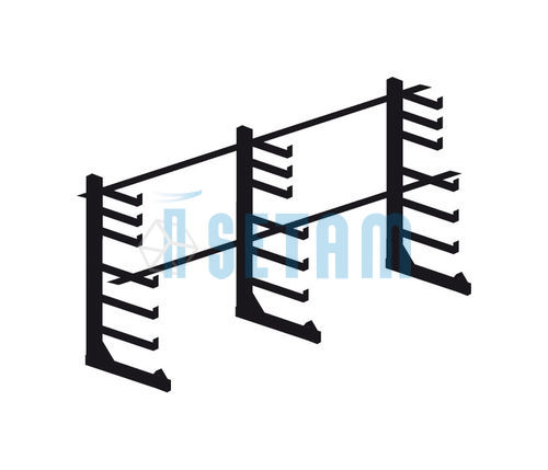 Rayonnage cantilever léger - Kit porte barres horizontal simple face L.2900 mm