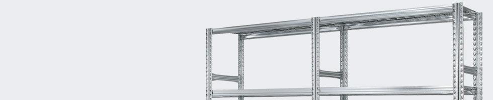 rayonnage metallique tag re en m tal setam. Black Bedroom Furniture Sets. Home Design Ideas