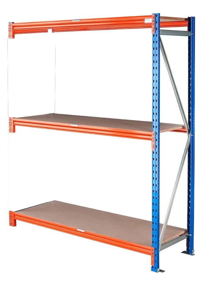 Rayonnage mi lourd kit suivant L.150 x P.100 x H.300 cm