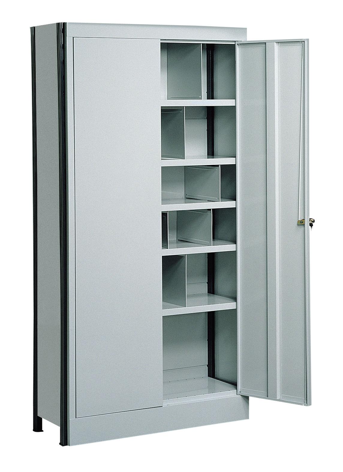 Rayonnage peint avec casiers H.2000 x L.1030 x P.400 mm et portes