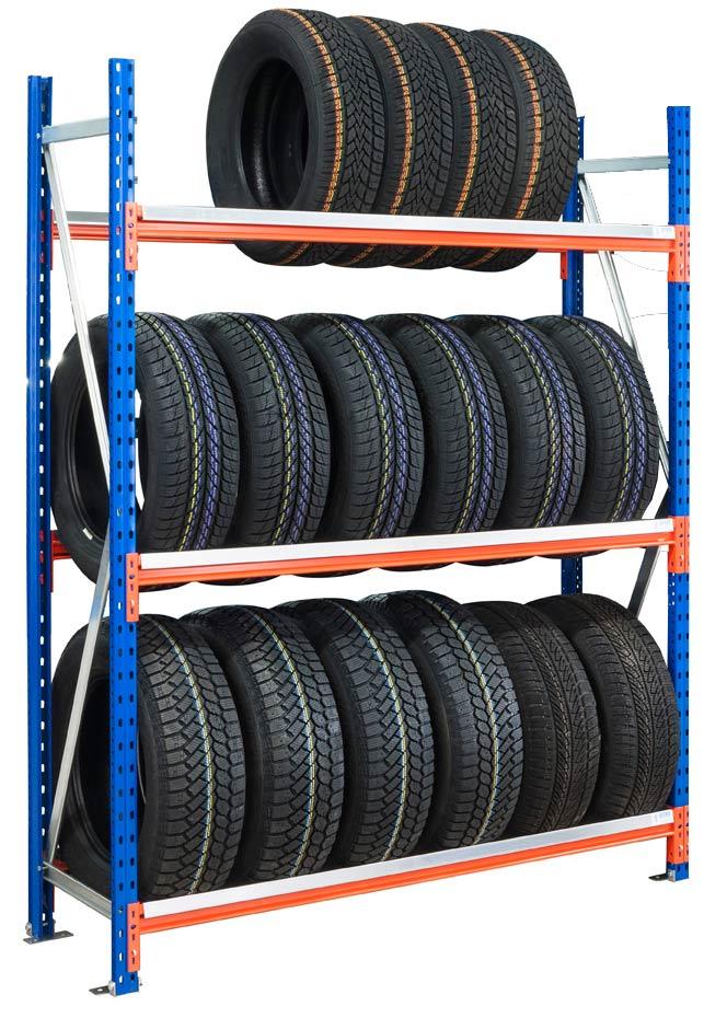 Rayonnage pneus 3 niveaux L.150 cm