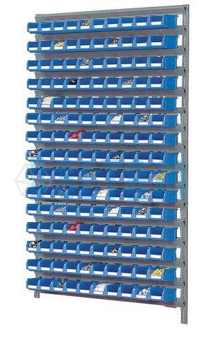 Rayonnage Porte Bacs Mural Avec 150 Bacs Plastique 1 Litre Setam