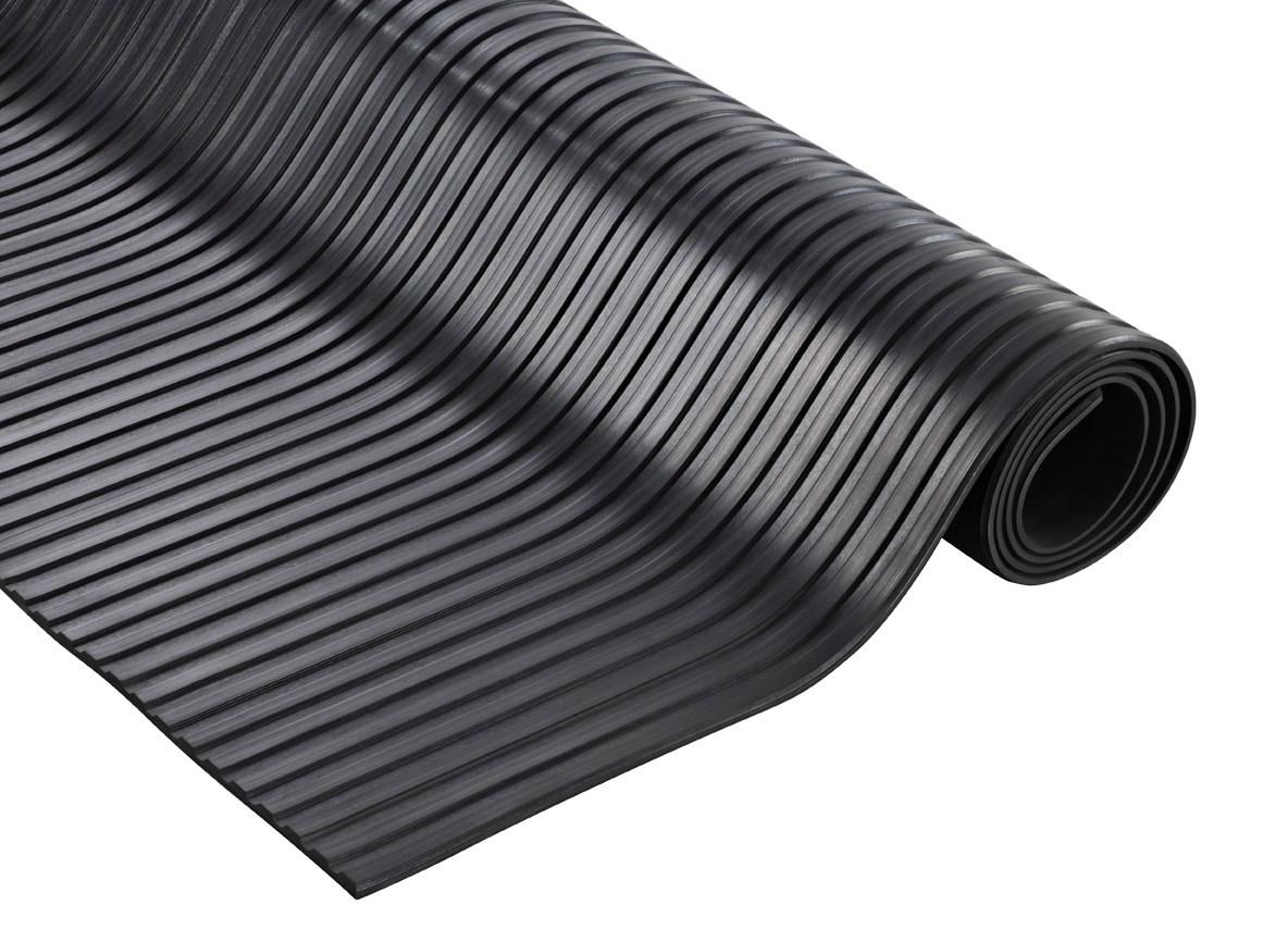Rouleau de tapis caoutchouc cannelé 10 mètres