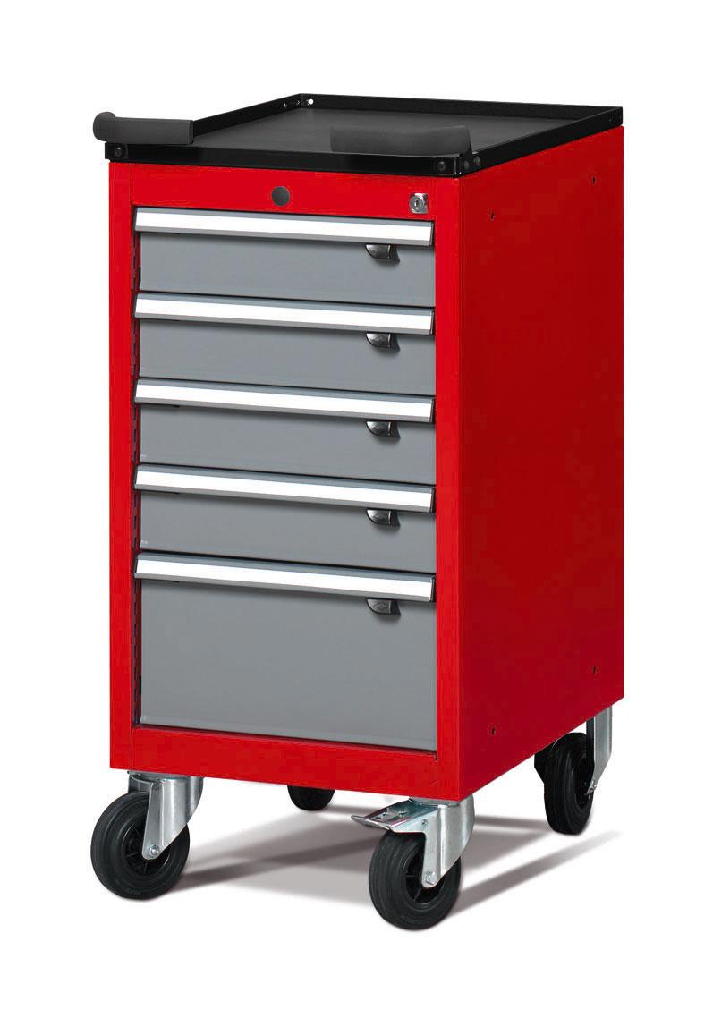 Servante atelier étroite 5 tiroirs