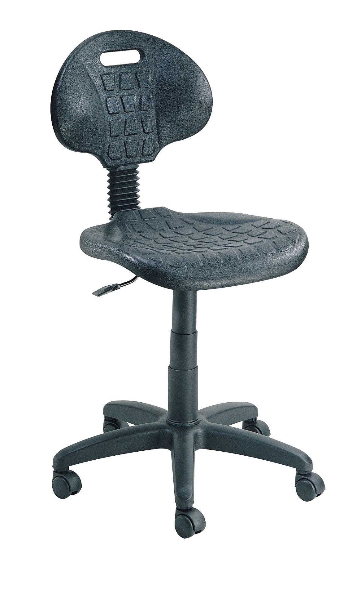 Siège atelier à roulettes assise ergonomique en polyuréthane