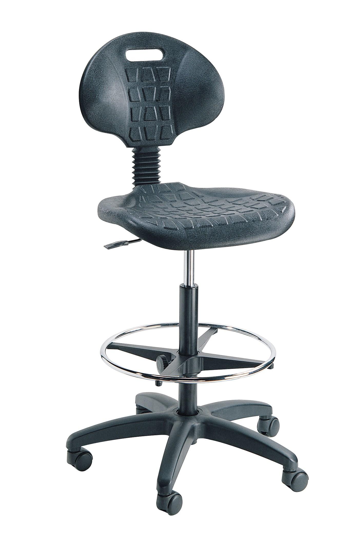 Siège ergonomique d'atelier sur roulettes modèle haut