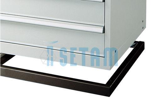 Socle pour armoire m tallique tiroir gb mm noir ral 9011 setam - Armoire metallique noire ...