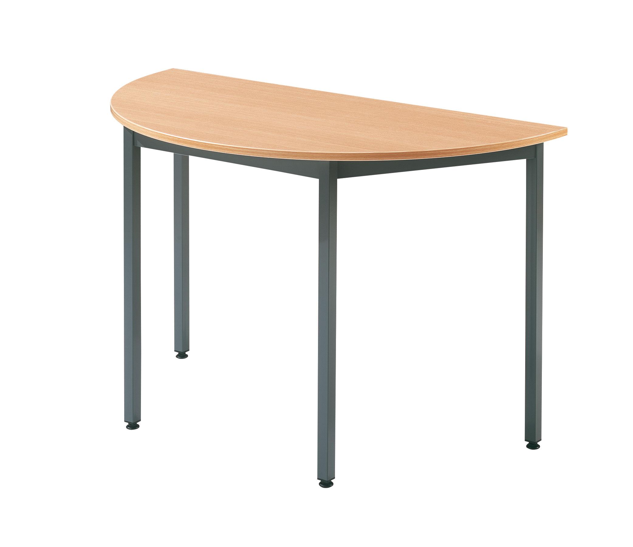 Table demi-ronde de réunion plateau hêtre L.120 cm