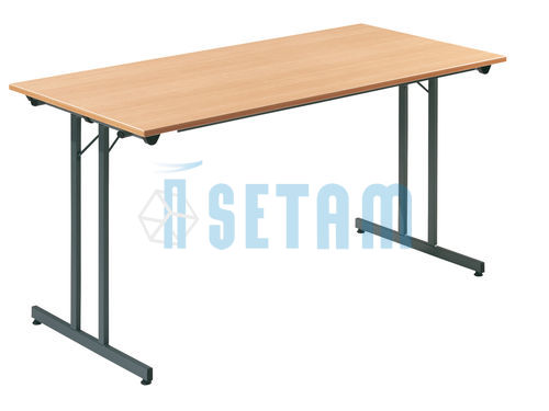 Table pliante L.1200 x P.800 mm hêtre et anthracite