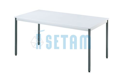 Table rectangulaire L.1400 x P.700 mm gris clair et anthracite