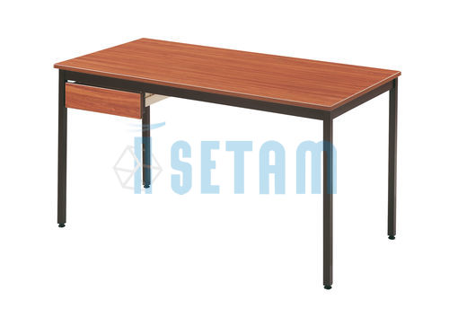 Table rectangulaire L.1400 x P.700 mm teck et brun