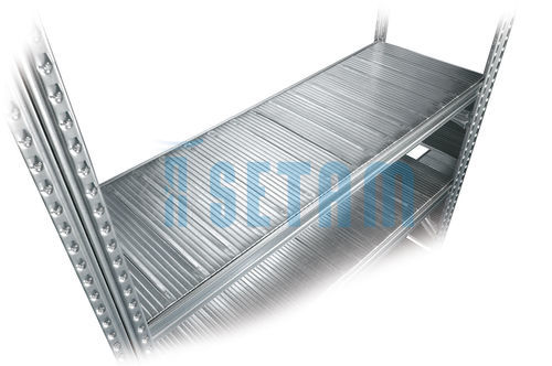 Tablette de rayonnage metallique Galvastar L.1050 x P.600 mm charge 155 kg